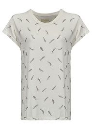 Current/Elliott The Crew Neck Tee - Dirty White Feathers