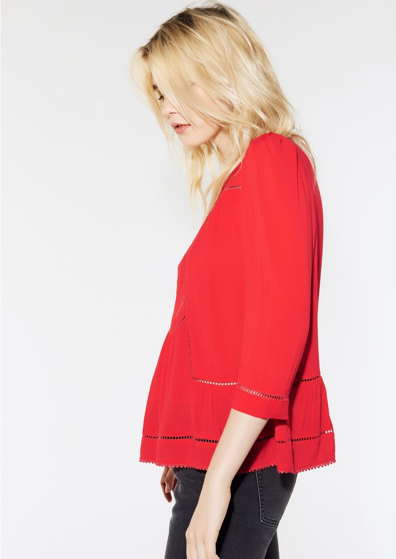 Ba&sh Wolt Blouse - Red main image