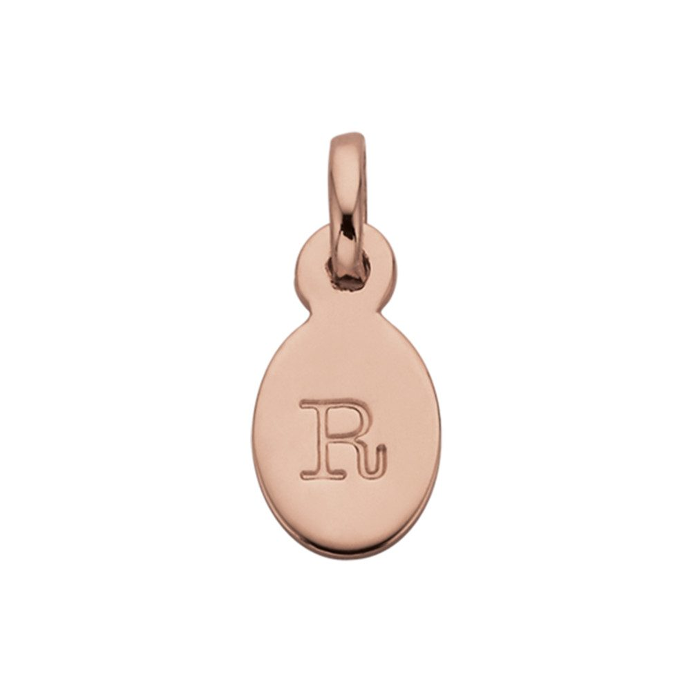 Bespoke Alphabet 'R' Charm - Rose Gold