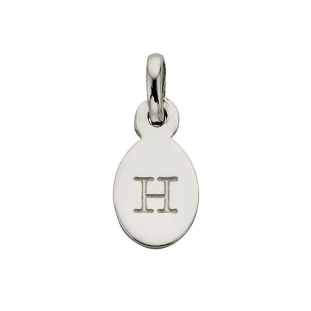 Bespoke Alphabet 'H' Charm - Silver
