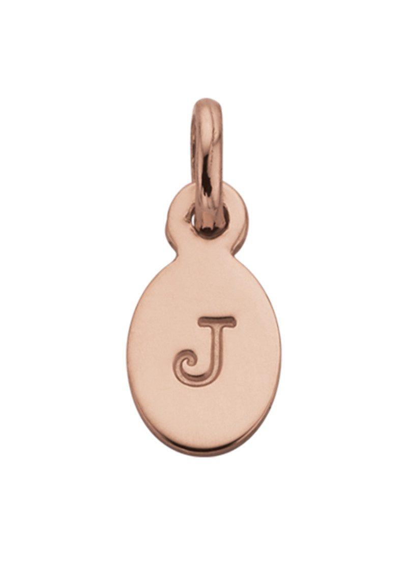 KIRSTIN ASH Bespoke Alphabet 'J' Charm - Rose Gold main image