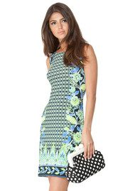 Hale Bob Karina Printed Dress - Lime