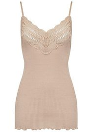 Rosemunde Wide Lace Strap Top - Cacao