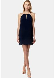 COOPER AND ELLA Elena Scallop Dress - Navy