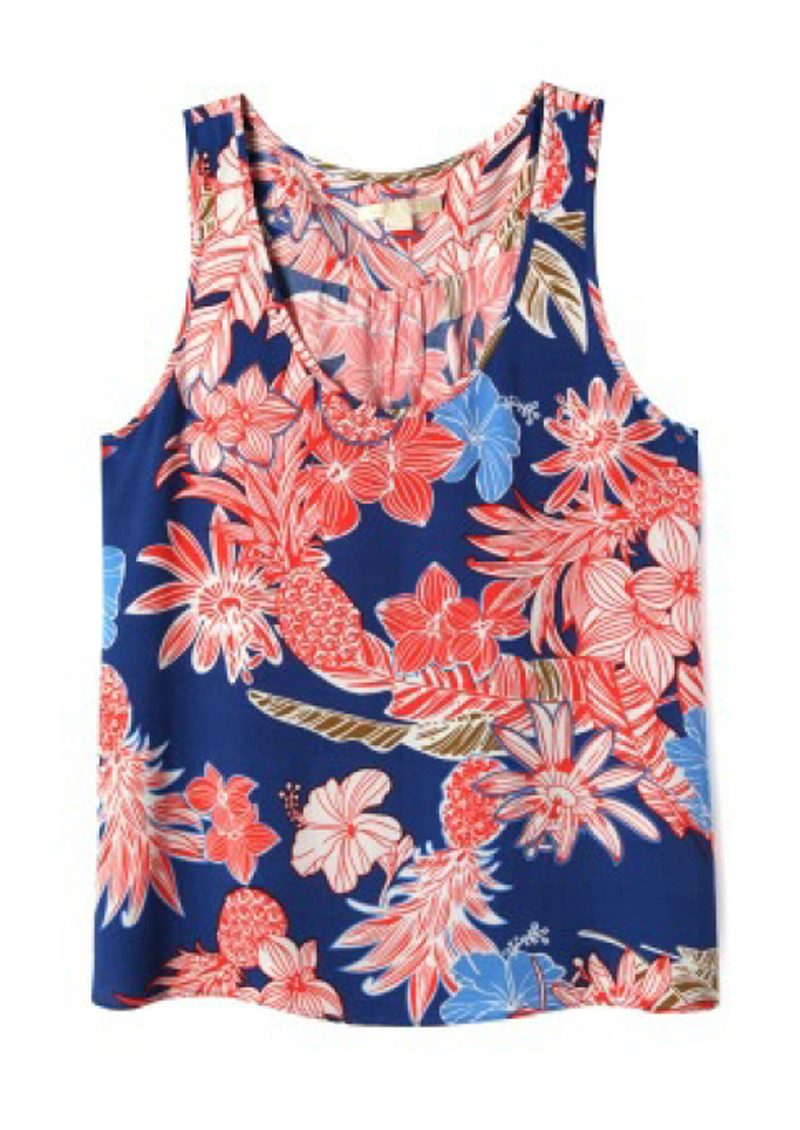 COOPER AND ELLA Clara A-Line Tank - Red, Blue & White main image