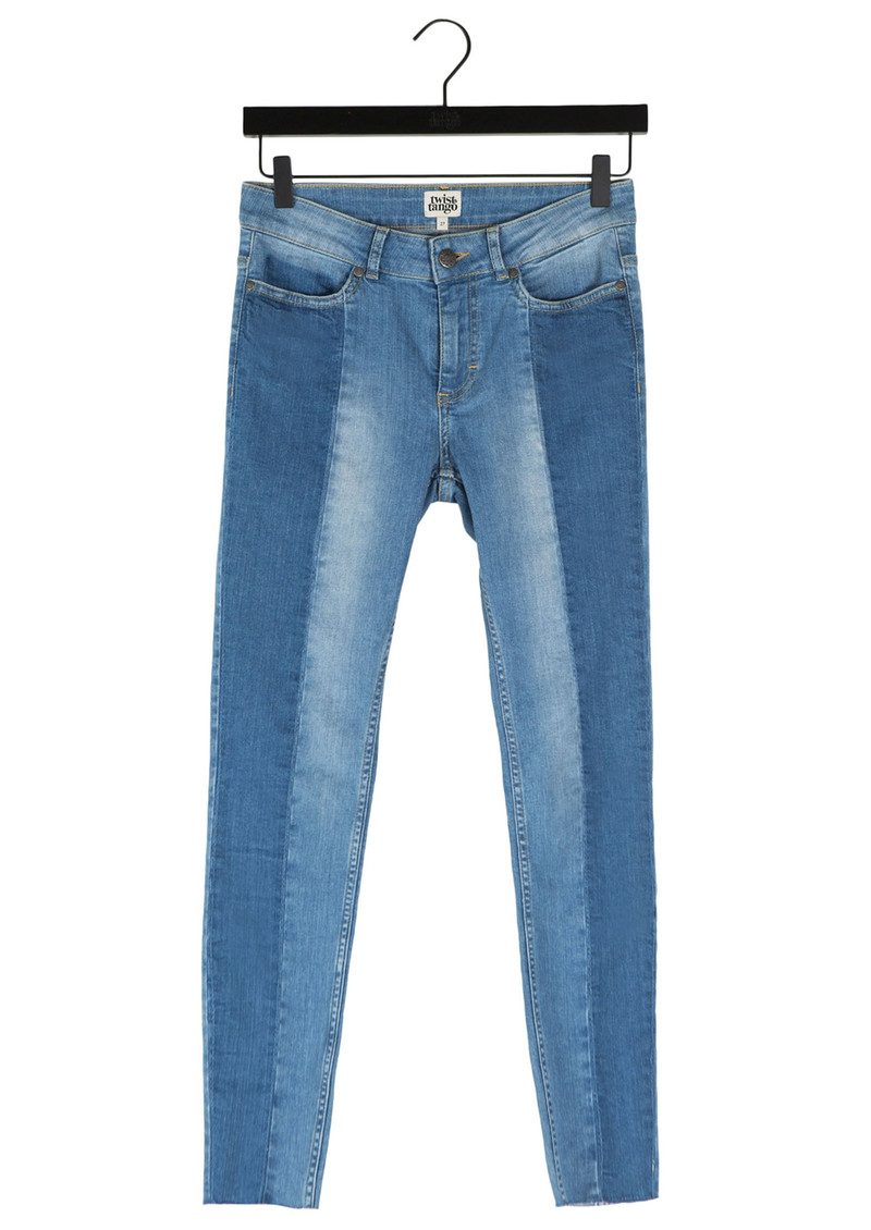 Twist and Tango Julia Raw Hem Ankle Jeans - Mid Blue main image