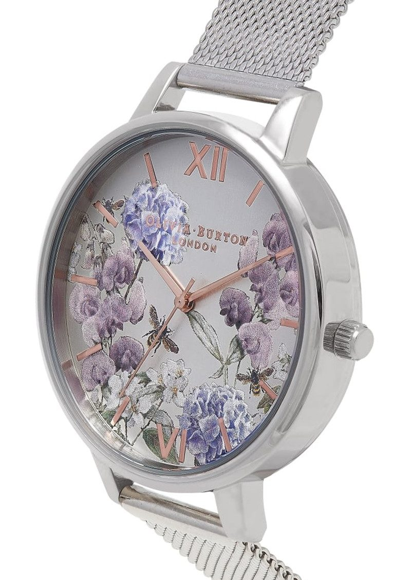 Olivia Burton Parlour Bee Blooms Mesh Watch - Silver main image