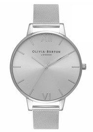 Olivia Burton Big Dial Sunray Mesh Watch - Silver