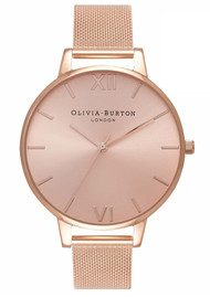 Olivia Burton Big Sunray Dial Watch - Rose Gold