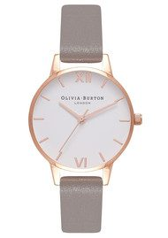 Olivia Burton Midi White Dial Watch - Iced Coffee & Rose Gold