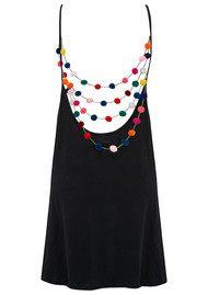 PITUSA Mini Pom Pom Dress - Black