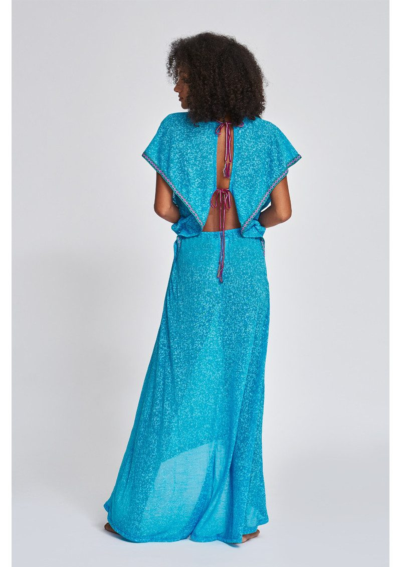 PITUSA Florentina Maxi Dress - Blue main image