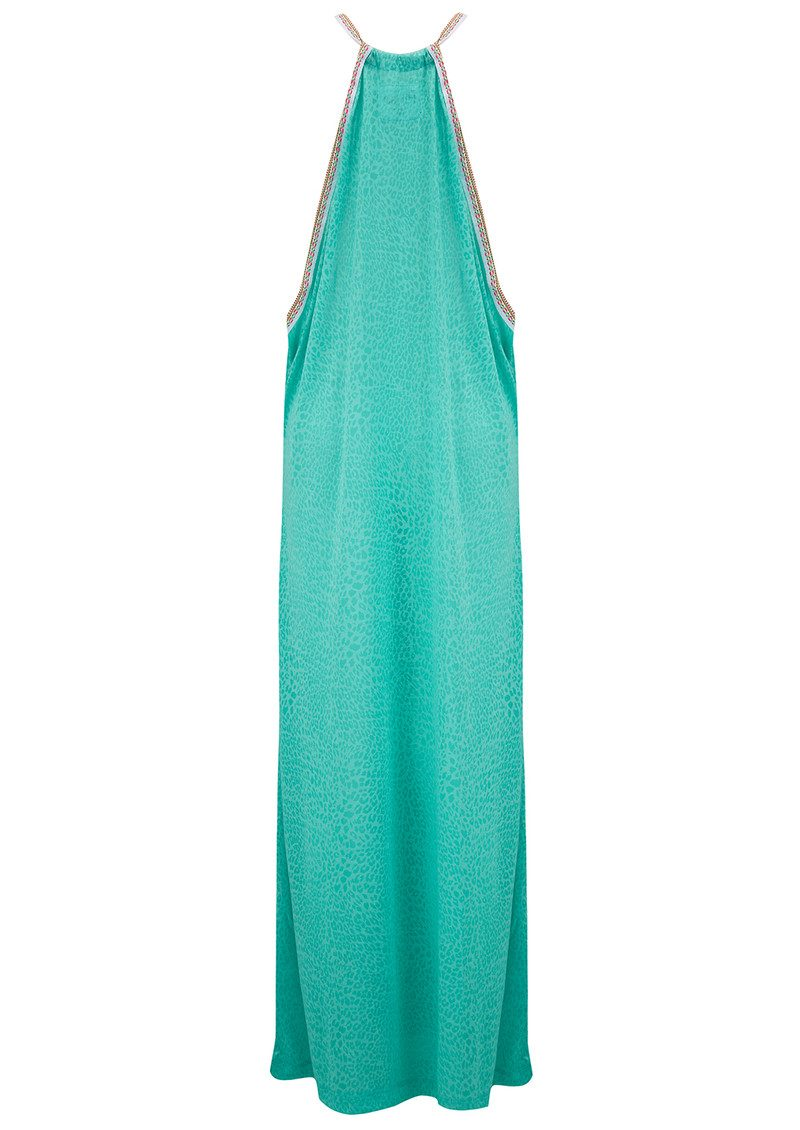 PITUSA Cheetah Sun Dress - Mint main image
