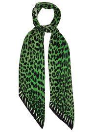 ROCKINS Leopard's Teeth Classic Skinny Silk Scarf - Green
