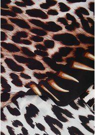 ROCKINS Leopard's Teeth Classic Skinny Silk Scarf - Gold