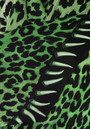 ROCKINS Leopard's Teeth Classic Skinny Silk Scarf - Green