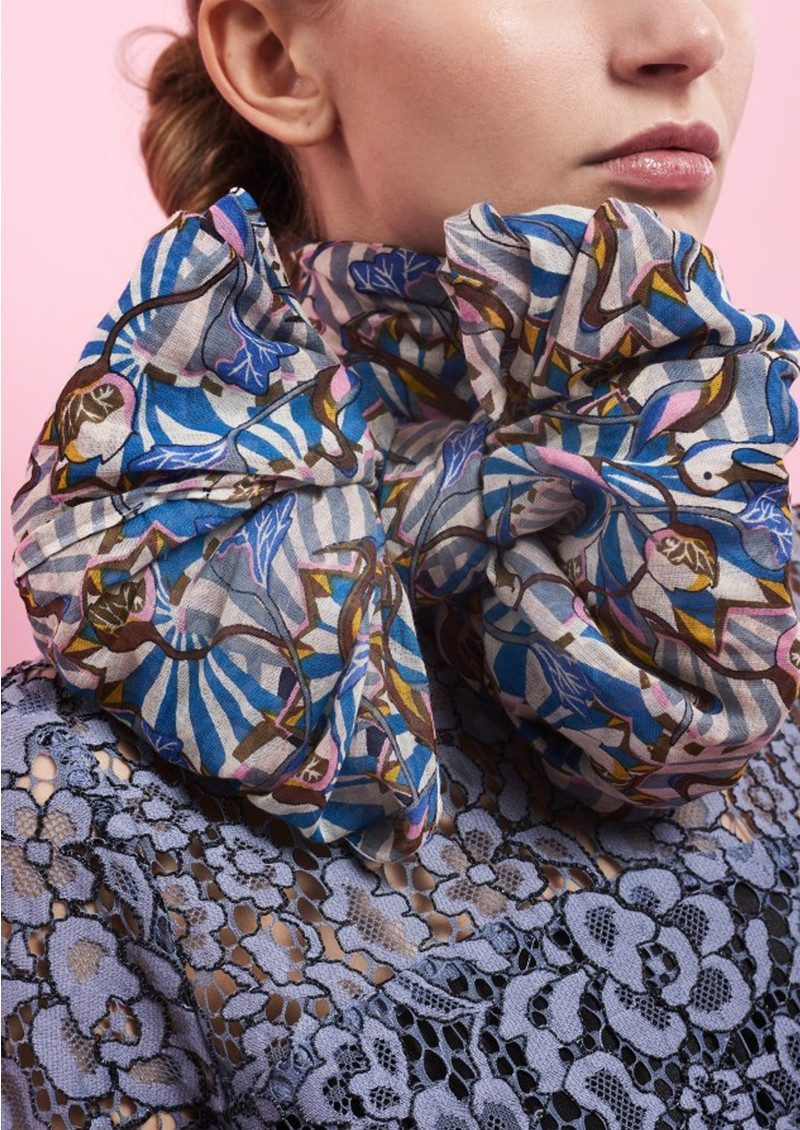 Charonne Cotton Scarf - Multi main image