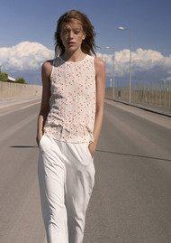 CUSTOMMADE Samine Silk Top - Whisper White