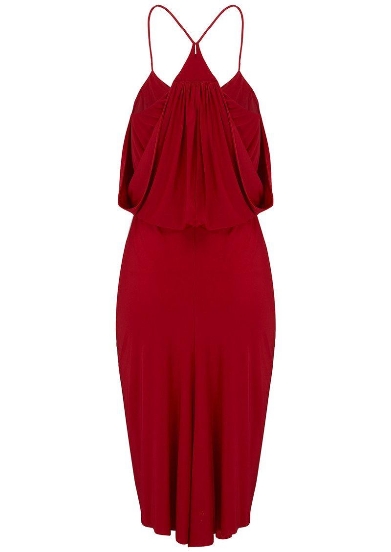 MISA Los Angeles Domino Spaghetti Strap Dress - Red main image