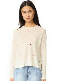 SUNDRY Cashmere Mix Crew Jumper - Little Hearts