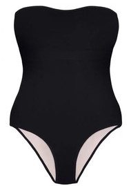 HEIDI KLEIN Reversible Bandeau One Piece - Black & Pink