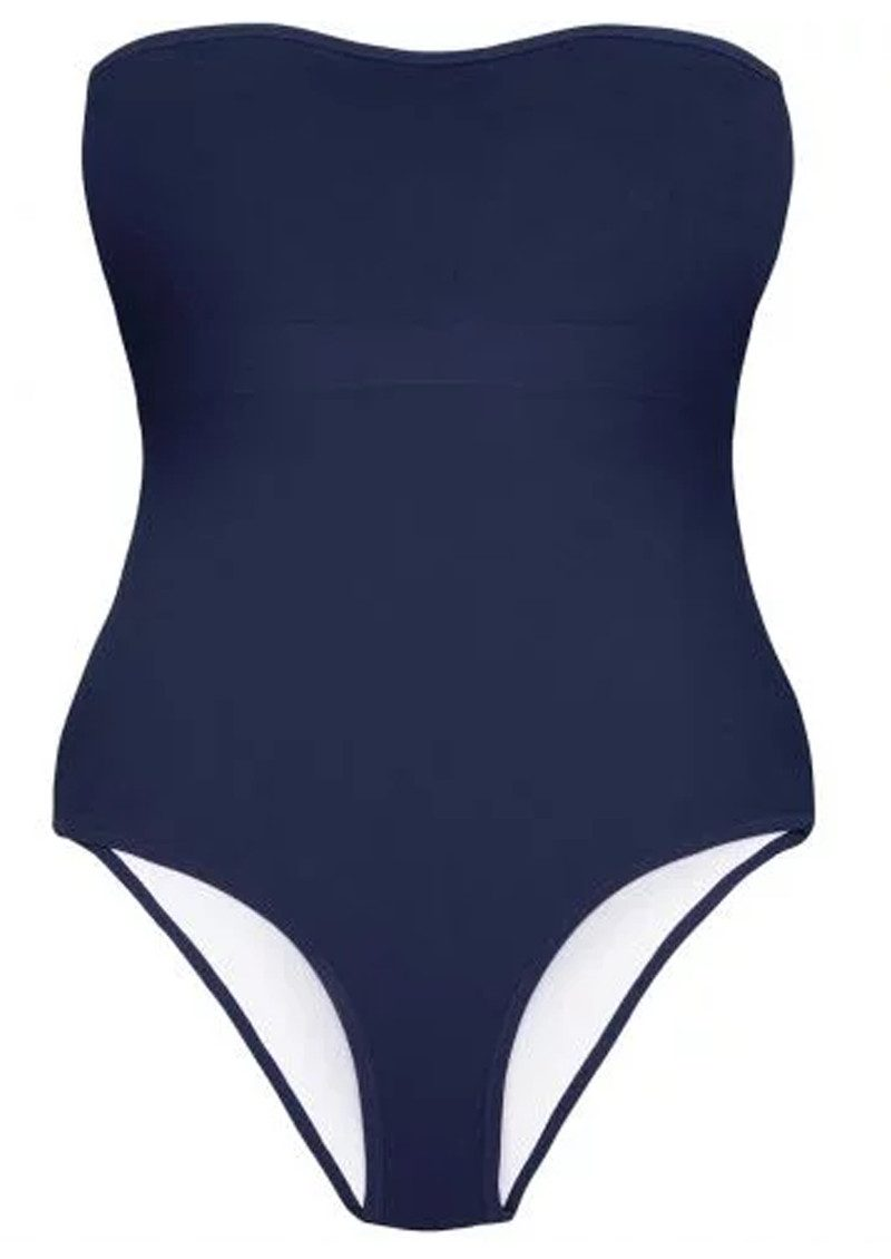 HEIDI KLEIN Reversible Bandeau One Piece - White & Navy main image