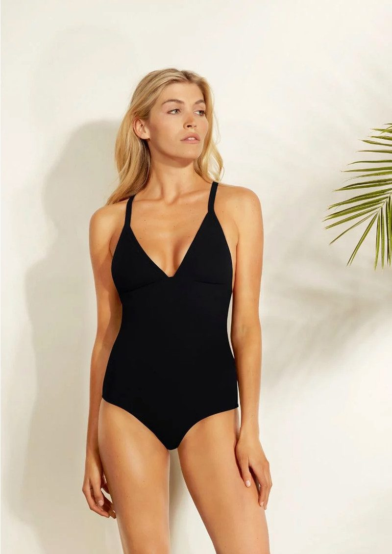 HEIDI KLEIN Reversible Triangle One Piece - Black & Pink main image