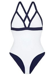 HEIDI KLEIN Reversible Triangle One Piece - White & Navy