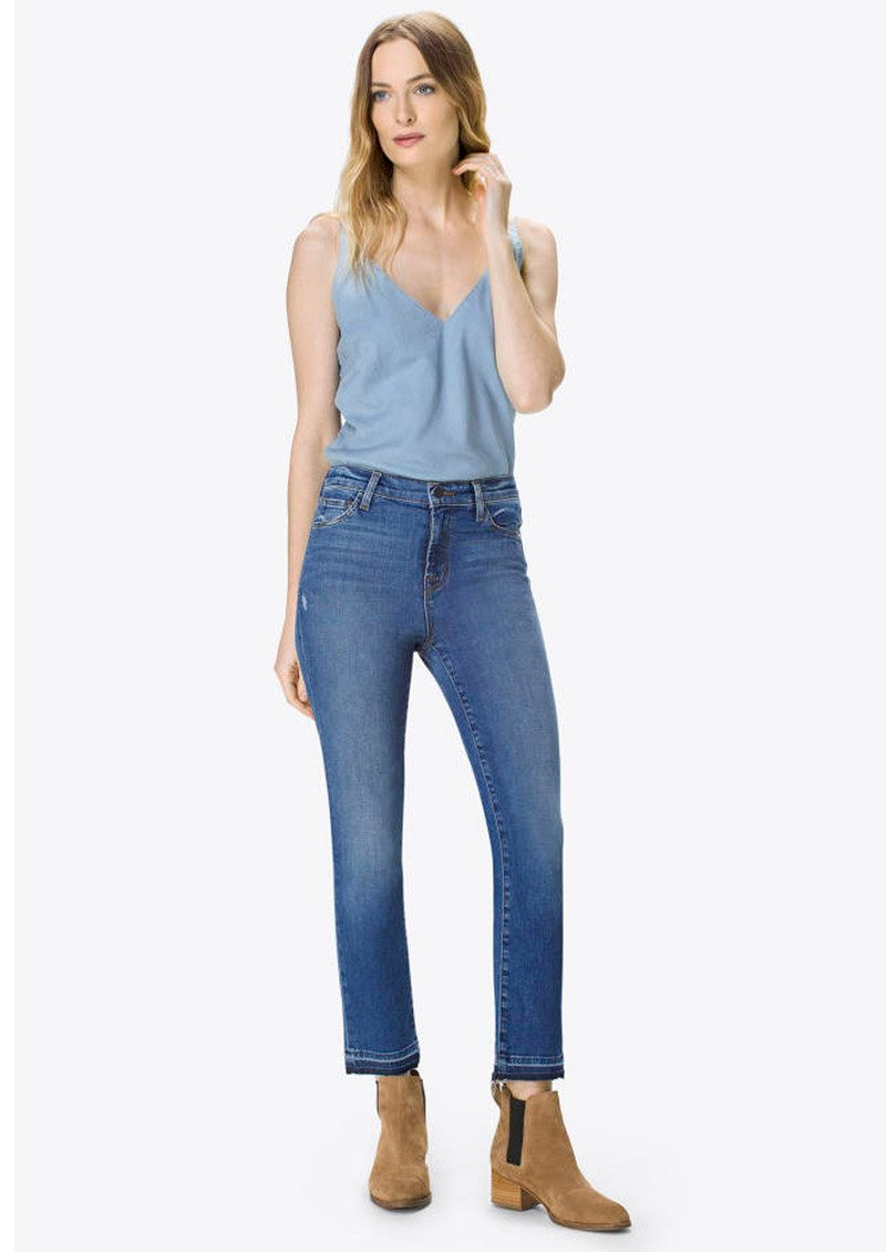J Brand Ruby High Rise Cropped Cigarette Jeans - Virtuosity main image