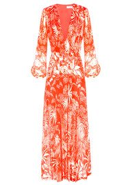 RIXO London Camellia Dress - Red Oriental Jungle