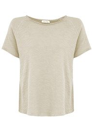 American Vintage Sonoma Short Sleeve Top - Pearl