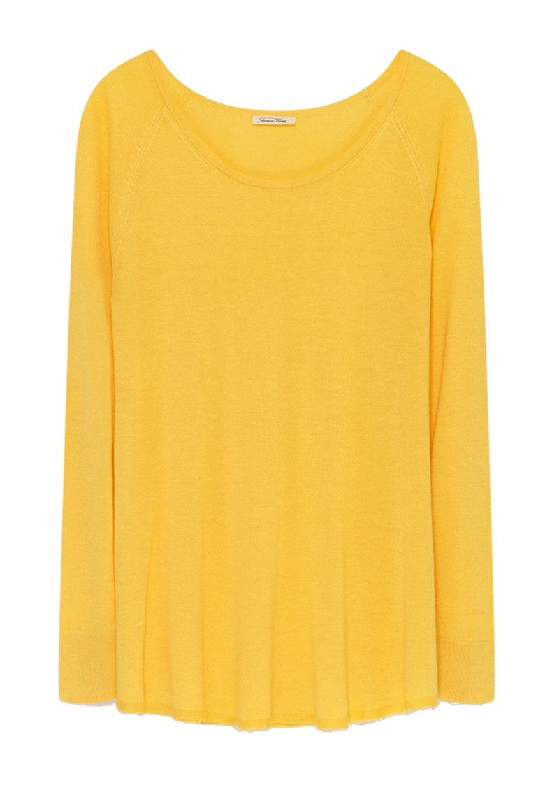 American Vintage Brilliant Round Neck Jumper - Canary main image