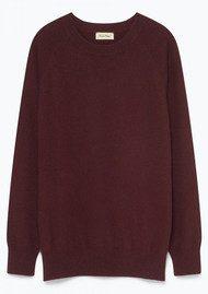 American Vintage Maxim Long Sleeve Cashmere Jumper - Morello