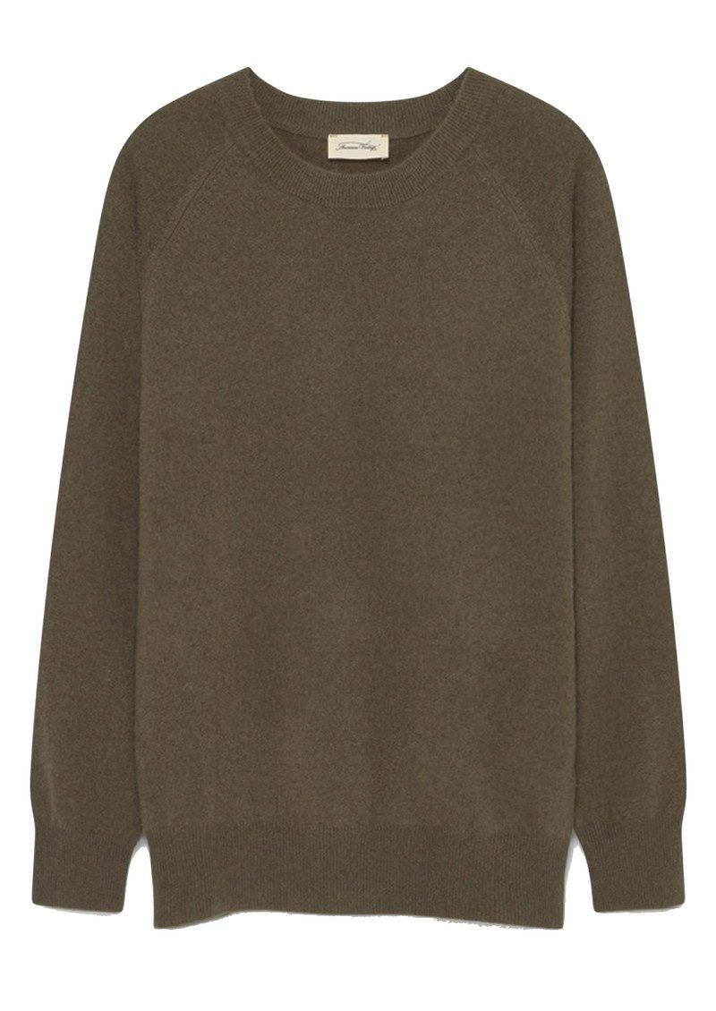 American Vintage Maxim Long Sleeve Cashmere Jumper - Rosemary main image