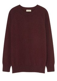 American Vintage Maxim Long Sleeve Cashmere Jumper - Morello
