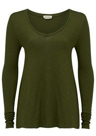 American Vintage Jacksonville Long Sleeved T-Shirt - Avocado