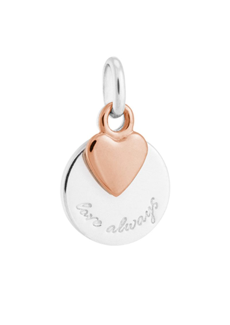 KIRSTIN ASH Bespoke Love Always Double Charm - Silver & Rose Gold main image