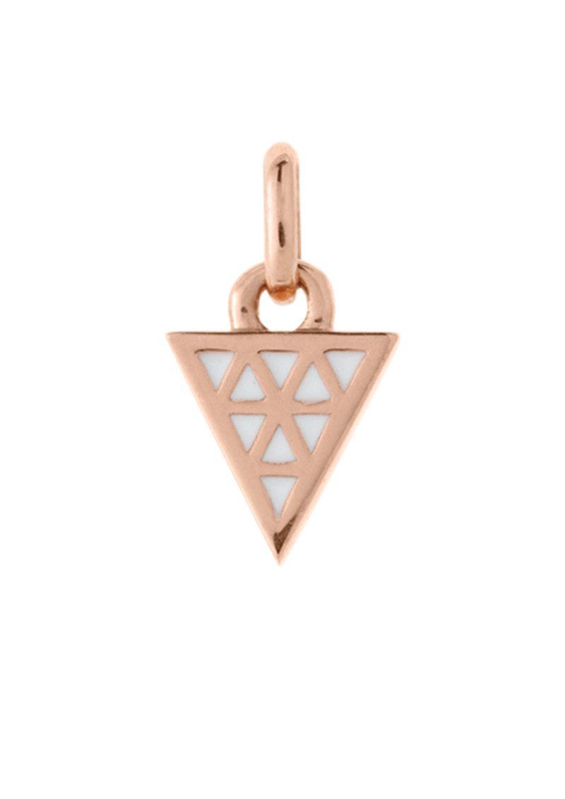 KIRSTIN ASH Bespoke Triangle White Enamel Charm - Rose Gold main image