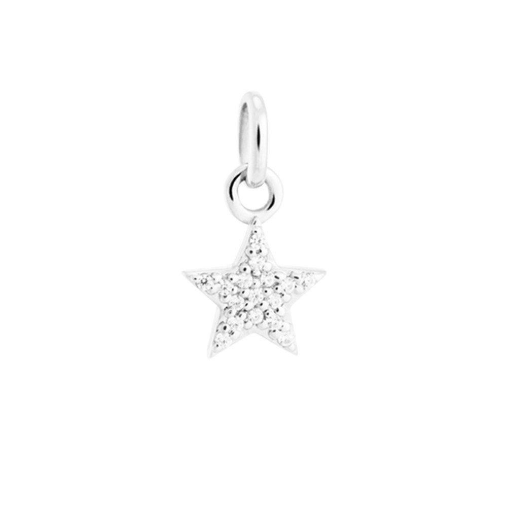 Bespoke Star Crystal Charm - Silver