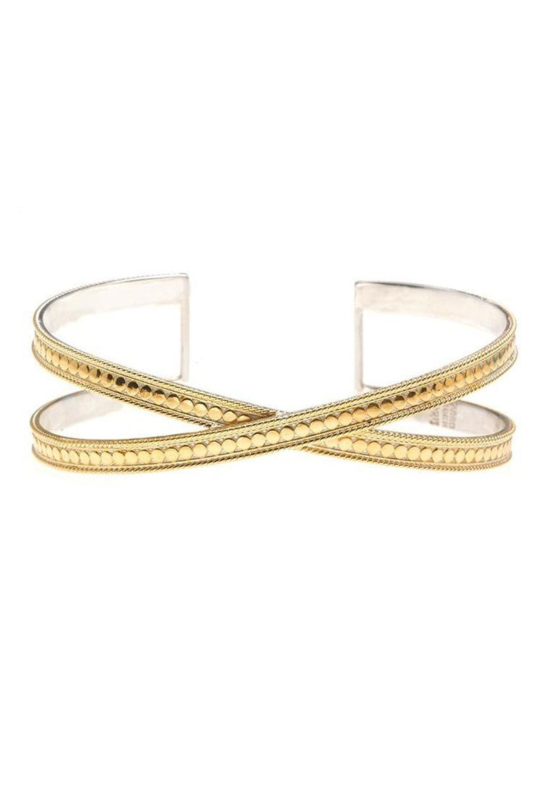 Single Cross Cuff - Gold main image