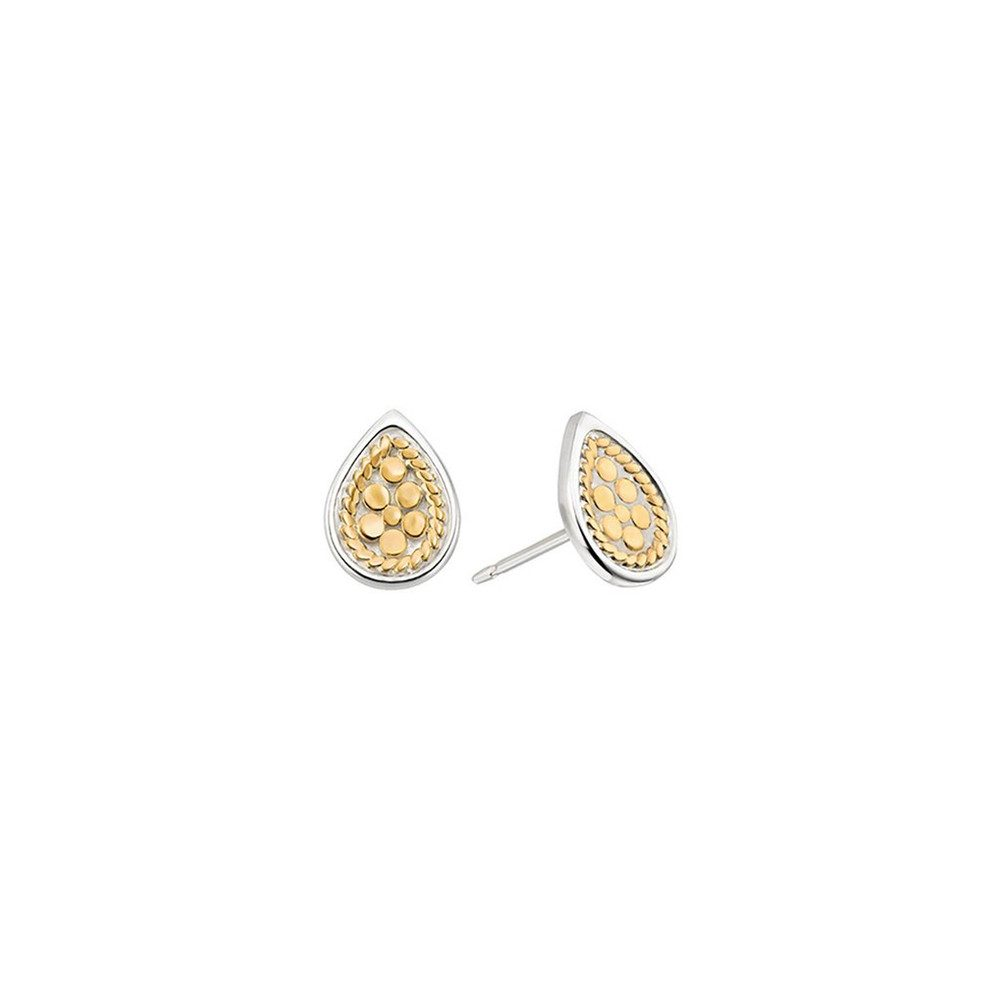 Teardrop Stud Earrings - Gold
