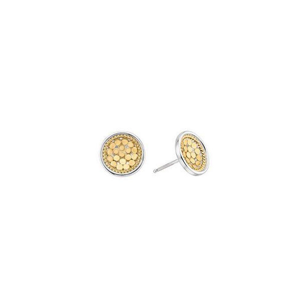 Dish Stud Earrings - Gold