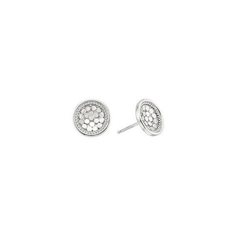 Dish Stud Earrings - Silver