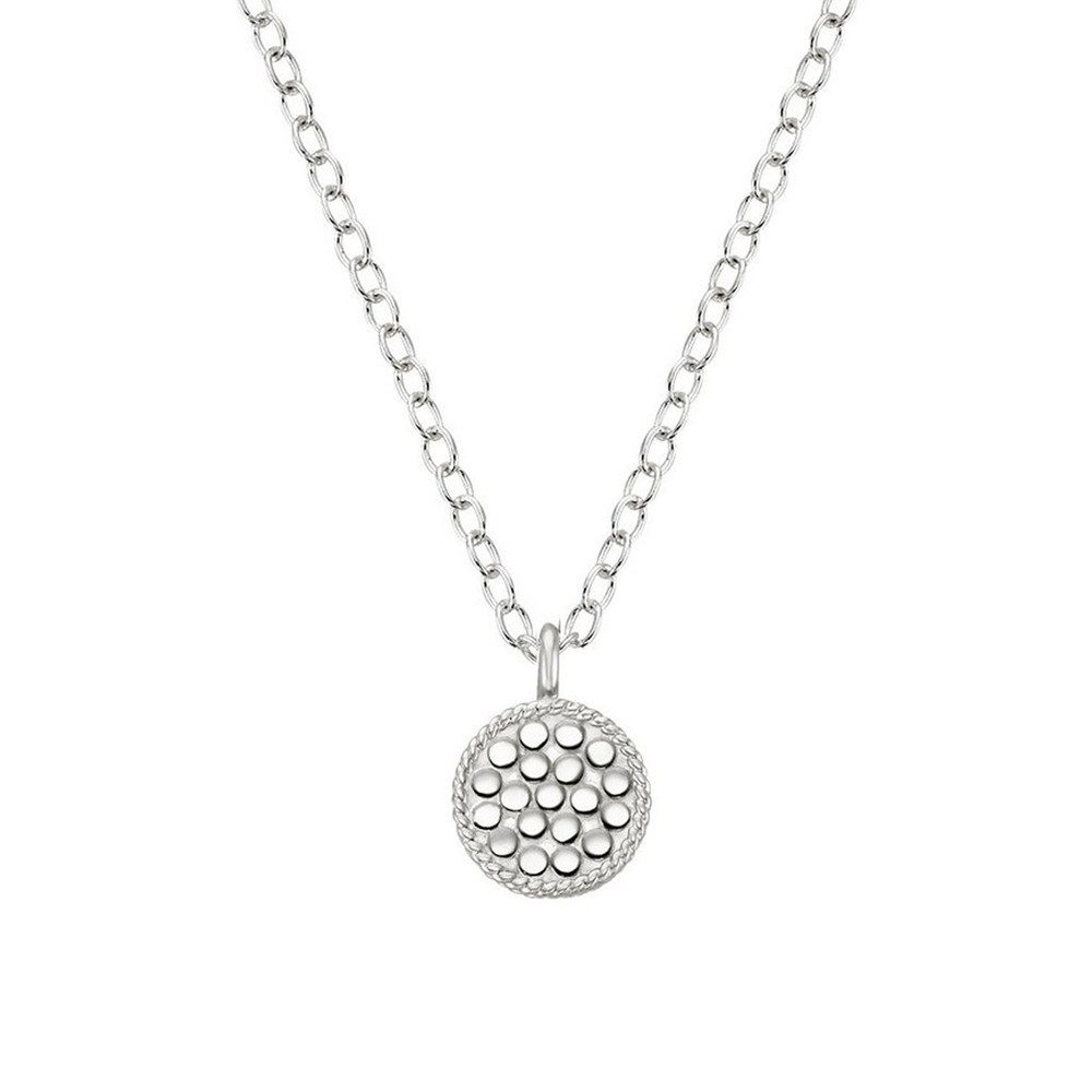 Mini Circle Reversible Necklace - Gold & Silver