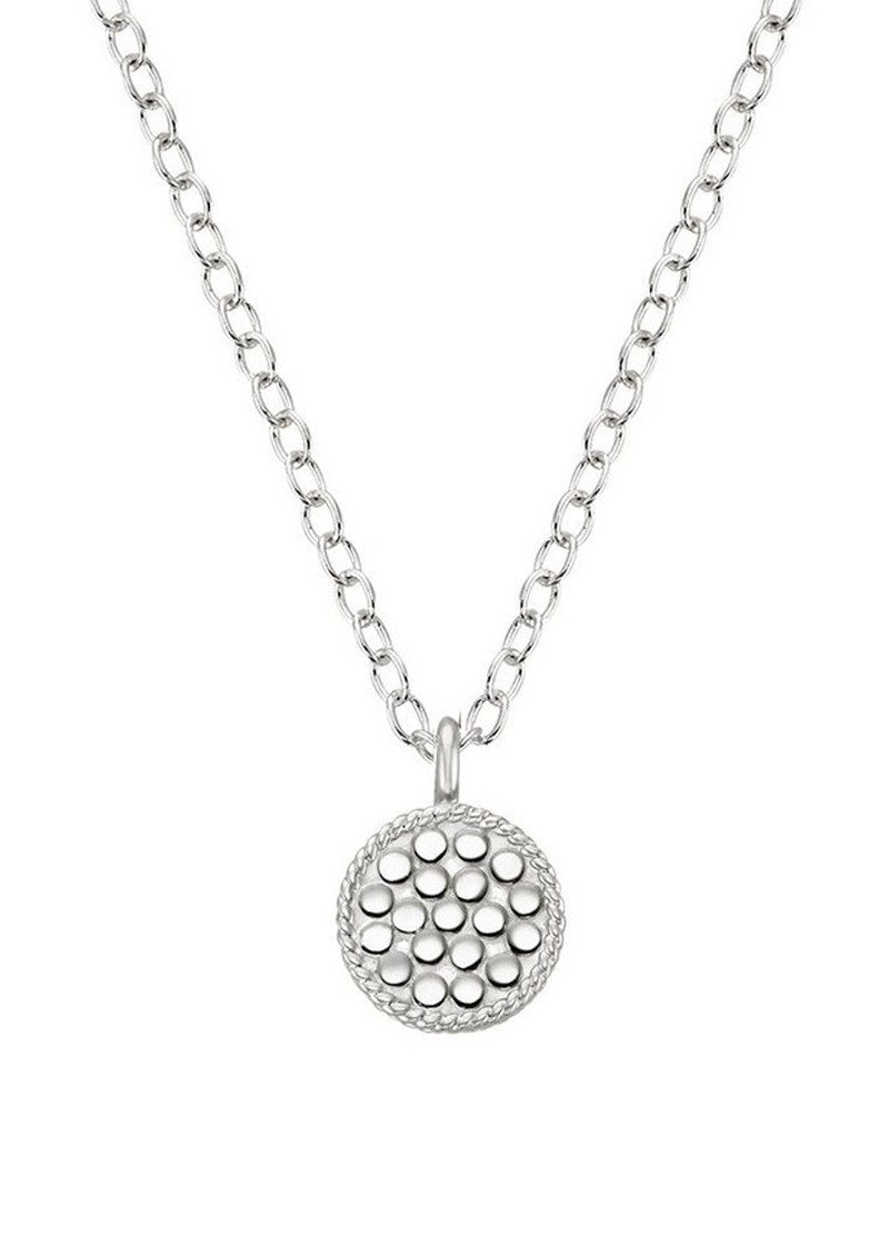 ANNA BECK Mini Circle Reversible Necklace - Gold & Silver main image
