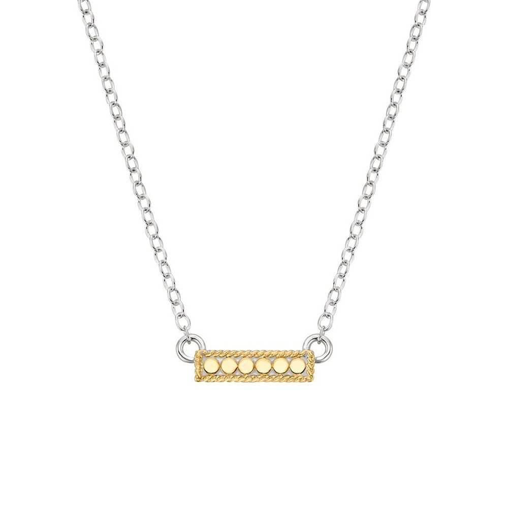 Mini Bar Reversible Necklace - Gold & Silver