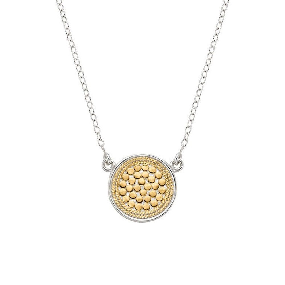 Reversible Disc Necklace - Gold & Silver
