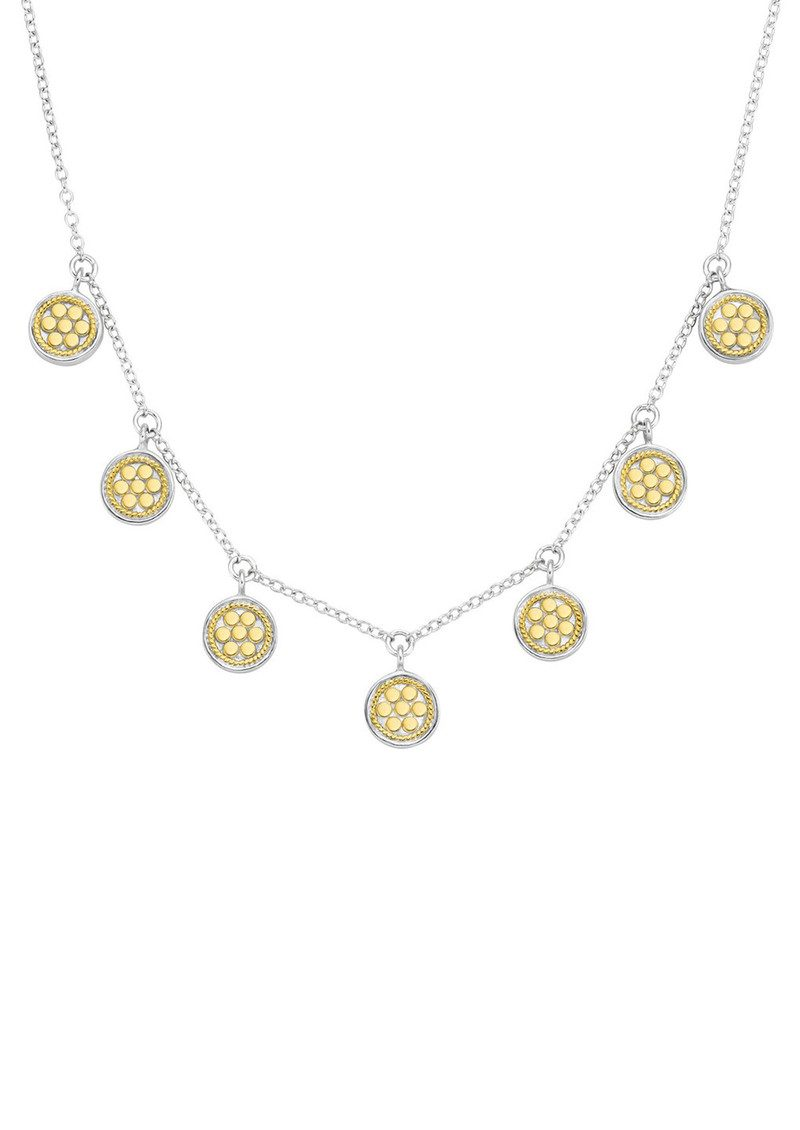 ANNA BECK Mini Disc Charm Necklace - Gold & Silver main image