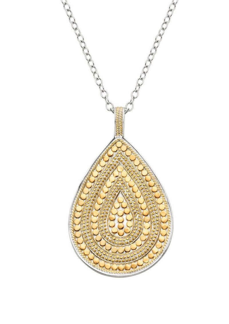 pav pave solid teardrop adina necklace products reyter