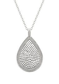 ANNA BECK Beaded Teardrop Necklace - Gold & Silver